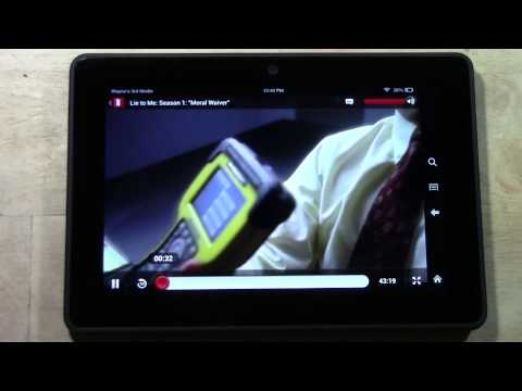 Netflix on the Kindle Fire HDX  H2TechVideos