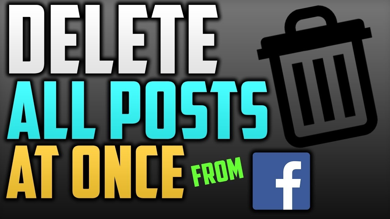 How To Delete All Posts From Facebook Page At Once( 2017)
