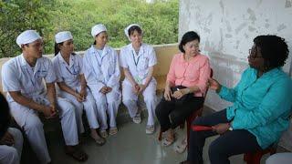 World Bank Vice President Victoria Kwakwa Visits Cambodia, Meets Project Beneficiaries