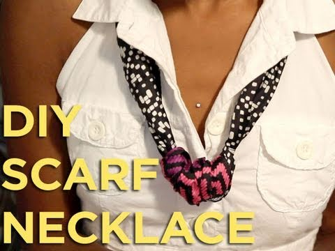 Do it yourself diy scarf necklace youtube do it yourself diy scarf necklace solutioingenieria Image collections