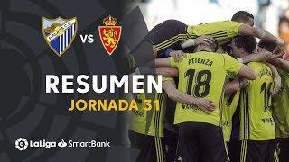 Resumen de Málaga CF vs Real Zaragoza (0-1)