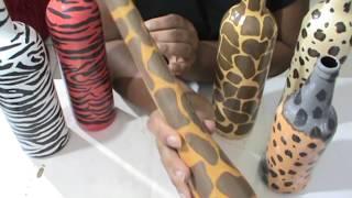 Garrafinha animal print alongada