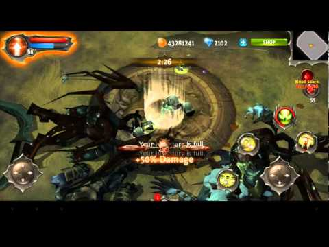 Dungeon Hunter 4 - Blood Match - Sentinel With 54M-Blood Score  - Level 68.
