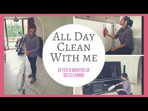 All Day Clean with me 2018! Cleaning my house after 8 months | Extreme cleaning Motivation