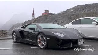 Lamborghini Aventador - V12 Sound on Stelvio