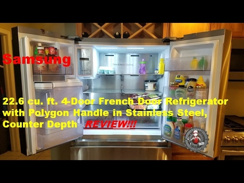 Samsung RF23M8090SG 22.6 cu. ft. 4-Door French Door Refrigerator with Polygon Handle Review
