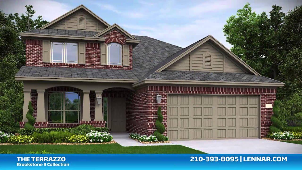 The Terrazzo New Home Brookstone Ii Collection Lennar San Antonio Youtube
