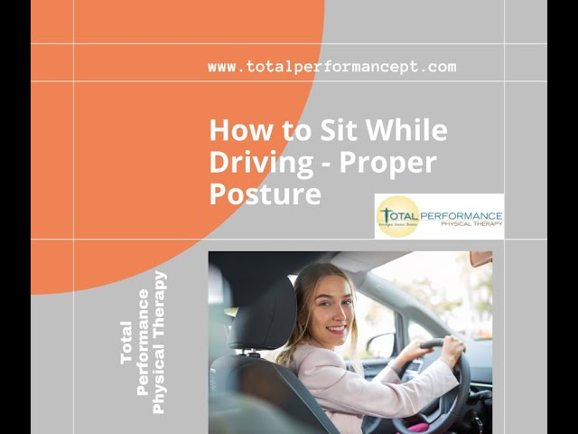 How to Sit While Driving