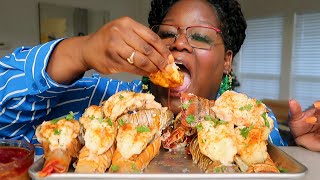 HOW TO BUTTERFLY A LOBSTER TAIL. 12 LOBSTER TAILS COOKING &amp EATING 먹방 MUKBANG