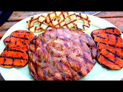 Honey Mustard Grilled Ham Steak - Ham Recipe