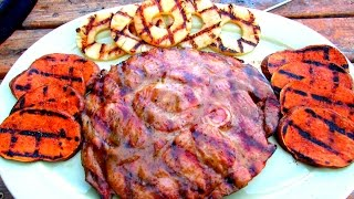 Honey Mustard Grilled Ham Steak - Ham Recipe