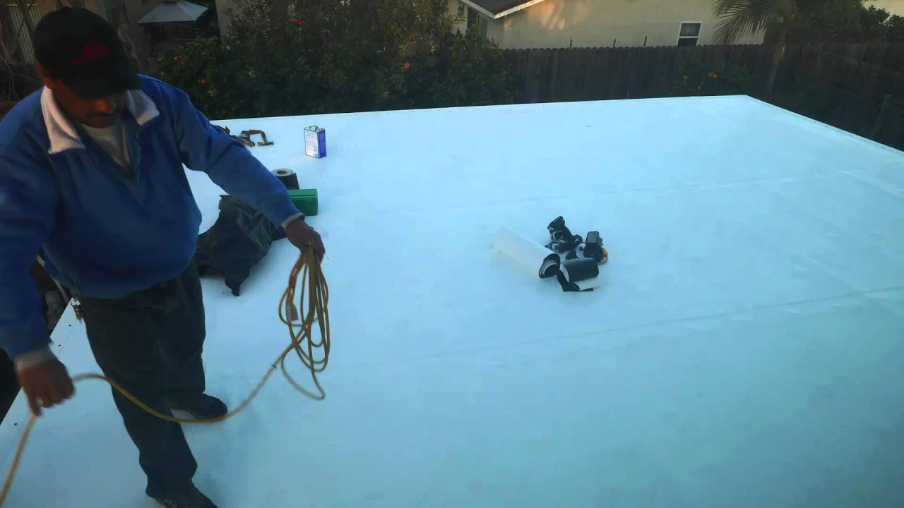 PVC Membrane Roofing Installation In 5 Minutes   YouTube