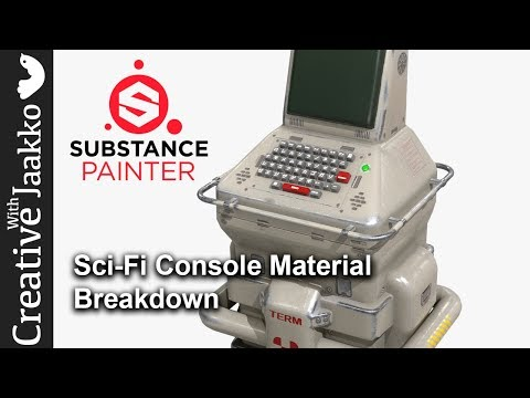 Substance Painter Material Breakdown for Sci-Fi Console