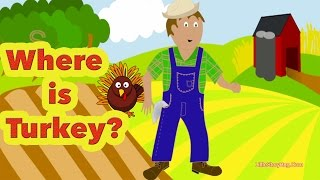 Preschool Thanksgiving Song - Where is Turkey? - Littlestorybug