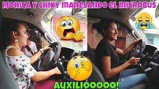 PELIGRO AL VOLANTE!😱 Chiky y Monica las pusimos a prueba y vean lo que pasó😰 Manejo. Parte 3