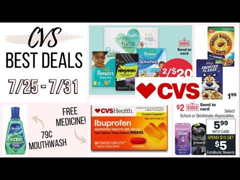 9 BEST CVS DEALS (7/25-7/31) FREE MEDICINE, 59¢ CEREAL, AND MONEYMAKER RAZORS!