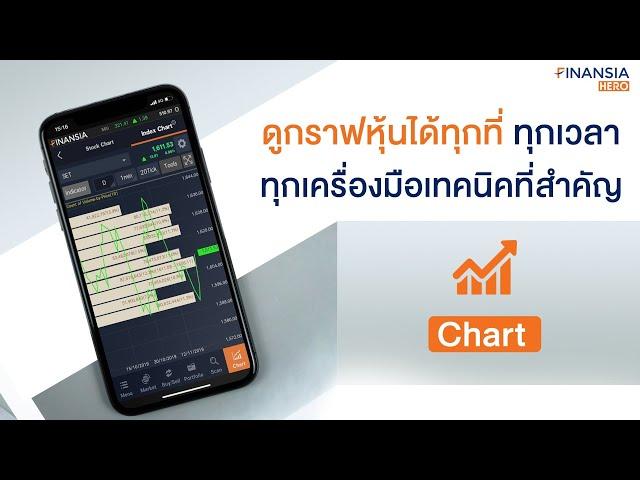 อยากดูกราฟแบบไหน ใช้อินดิเคเตอร์อะไร ดูได้ที่ Chart
