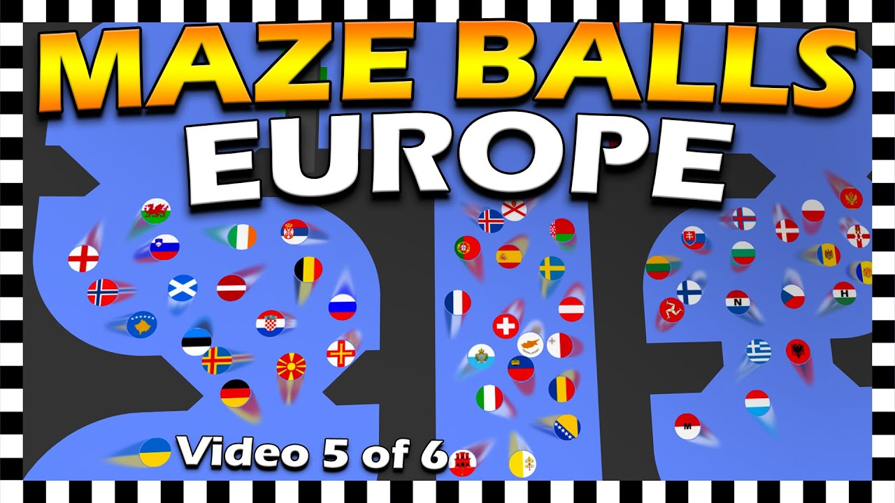 Country Maze Balls Europe - Marble Race