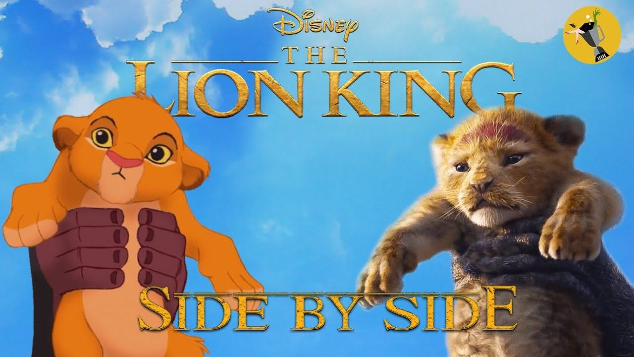 the lion king official teaser trailer side by side