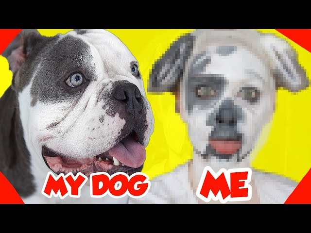 TRANSFORMING MYSELF INTO MY DOG FOR A DAY