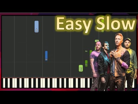 Everglow - Coldplay EASY Piano Tutorial