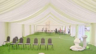 Декор шатра на свадьбу и банкет