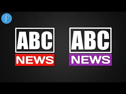 News Channel Logo Design | How To Make Logo On PixelLab | PixelLab Logo Design | ABDUKE DESIGN