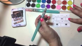 national stamping month using ctmh watercolors