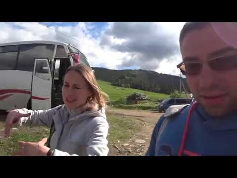 Совершаем подъем. Канатная дорога в с. Пилипец, гора Гемба. Закарпатье.