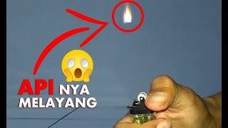 Trik Percobaan Membuat Api Korek Gas Melayang - Tips Keren