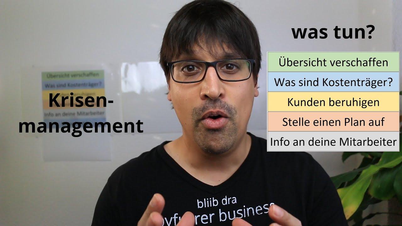Krisenmanagement was tun?