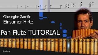 Gheorghe Zamfir - Einsamer Hirte (Pan Flute TUTORIAL)