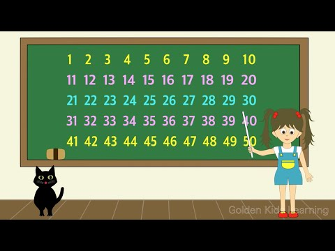 Count Numbers from 1 through 50 in English ~ You Tube ~