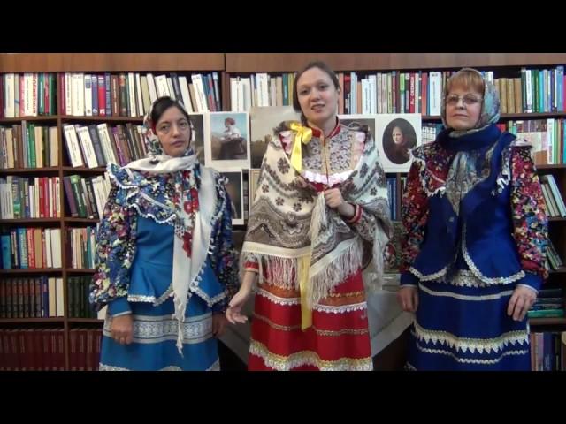 Изображение предпросмотра прочтения – «Коллектив Библиотеки г.п. Талинка» читает отрывок изпроизведения «Мороз, Красный нос» Н.А.Некрасова