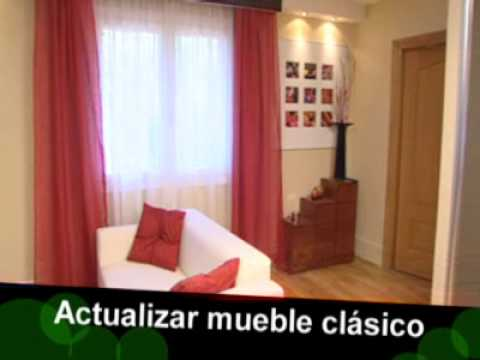 Bricoman a actualizar mueble cl sico youtube for Como modernizar un salon clasico