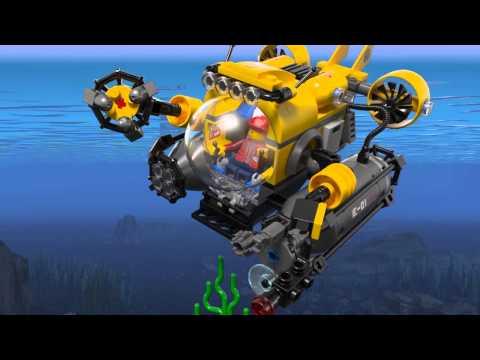 Lego 60092 | Deep Sea Explorers | Deep Sea Submarine | 3D Review