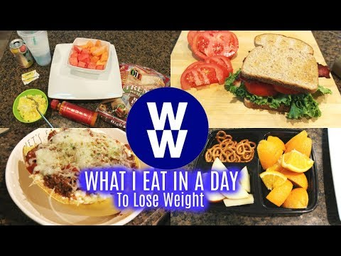 WHAT I EAT IN A DAY TO LOSE WEIGHT | WW BLUE PLAN