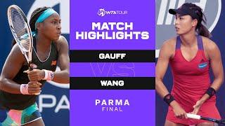 Coco Gauff vs Qiang Wang   2021 Parma Final