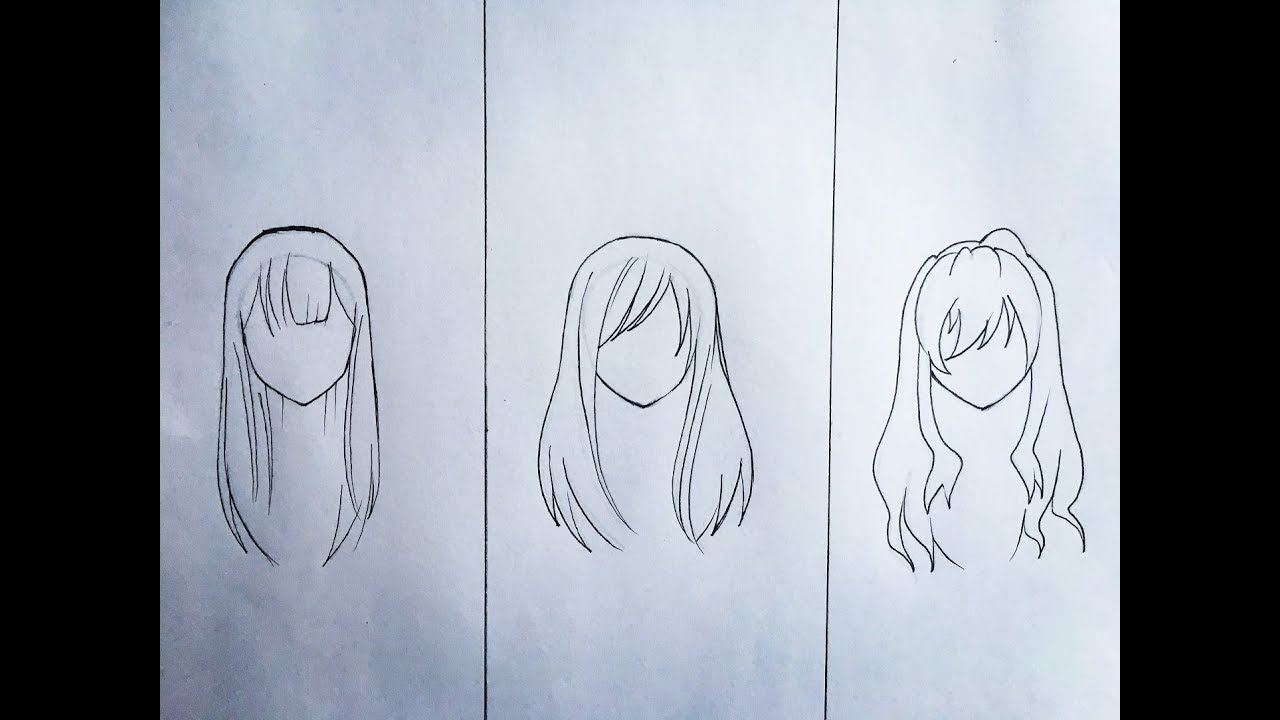 How to draw female anime hair (part 10)