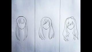 anime hair draw female