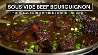 Sous Vide BEEF BOURGUIGNON Perfection - Affordable and Delicious!