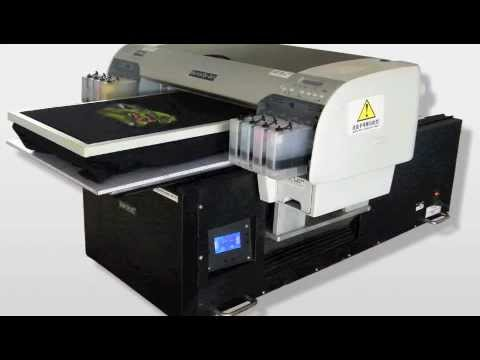 Digital flatbed t shirt printer direct to garment dtg for Machine for printing on t shirts
