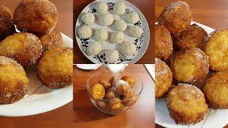 Творожные Пончики за 5 минут шарики Немецкие Quarkbällchen пошаговый видео рецепт