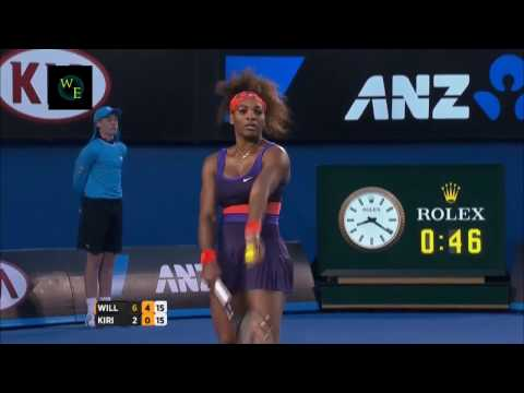 Serena Williams vs  Maria Kirilenko AO 2013