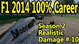 F1 2014 Gameplay PC : 100% Race Germany 1080p HD F1 Game Career Mode Season 2.