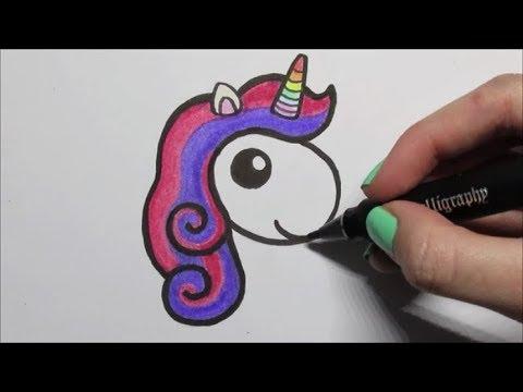 Kleurplaten Baby Spullen.Zo Teken Je Een Baby Unicorn Makkelijk Youtube