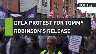 DFLA protest for Tommy Robinson's release