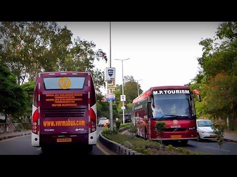 Chasing VOLVO B9R Multi AXLE bus through Bhopal , INDIA !!