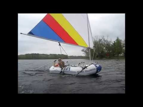 Hydro-Force Marine Pro Inflatable Boat and Sailboats To Go sail kit