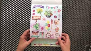 """Présentation des blocs de papier """"luxe paper block"""" de chez action —Partie 2:Cactus/succulents"""
